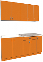 Готовая кухня Хоум Лайн Агата 1.7 (оранжевый) -