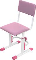 Стул детский Polini Kids City Smart (L, белый/розовый) -