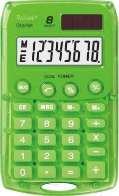 Калькулятор Rebell RE-STARLETG BX (8р, зеленый)