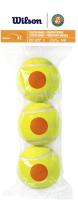Набор теннисных мячей Wilson Roland Garros / WRT147700 (3шт) -