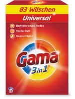 Стиральный порошок GAMA Универсальный в коробке (5.395кг) -