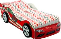 Стилизованная кровать детская Бельмарко Супра / 1254 (красный) -
