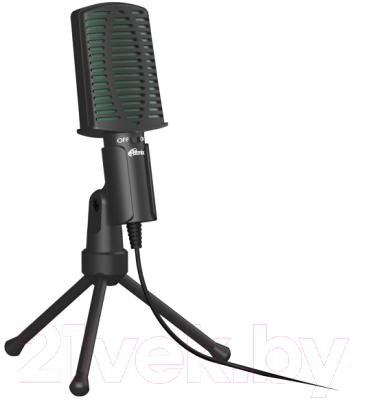 Микрофон Ritmix RDM-126 (черный/зеленый)