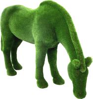 Каркасное топиари F3DF Лошадь на лугу (1.7x2.7x0.8) -