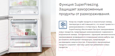 Холодильник с морозильником Bosch Serie 8 VitaFresh Plus KGN39LW32R