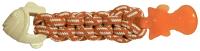 Игрушка для животных Rosewood Рыбка с канатным центром / 40217/RW (оранжевый) -