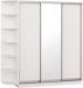 Шкаф Империал Тетрис ДЗД 210x220 (белый жемчуг) -