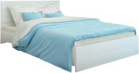 Двуспальная кровать Аквилон Азалия №18ПМ (бодега белый) -