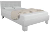 Полуторная кровать Аквилон Азалия №1200М  (бодега белый/белый пунто) -