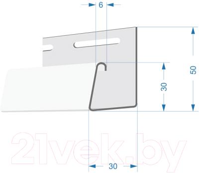Фасадный профиль Docke J Dacha (3м, светло-бежевый)