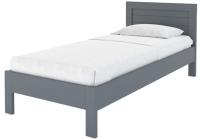 Односпальная кровать Proson Кристофер 90x200 (серая эмаль/сосна) -