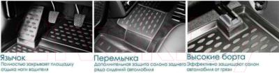 Комплект ковриков для авто ELEMENT Element3D02433210K для Volkswagen Polo (4шт)