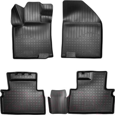 Комплект ковриков для авто ELEMENT Element3D02286210K для Geely SX11 (4шт)