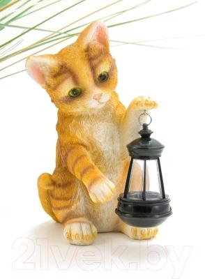 Садовая фигура-светильник Чудесный Сад 543 Котенок с фонарем садовая фигура ёж семен с клубничкой 17х17х35см 600295