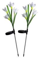 Садовая фигура-светильник Чудесный Сад Ирисы белые / 695 (2шт) -