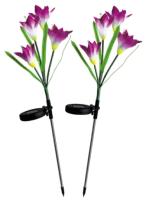 Садовая фигура-светильник Чудесный Сад Ирисы фиолетовые / 695 (2шт) -