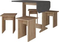 Обеденная группа Артём-Мебель СН-005 постформинг (сонома/дуб обожженный) -