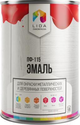 Эмаль Lida ПФ-115 RAL5015