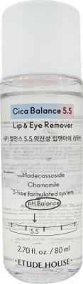 Лосьон для снятия макияжа Esthetic House Balance 5.5 Lip&Eye Remover двухфазный очищающий (80мл)