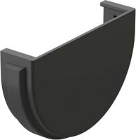 Заглушка желоба Docke Premium 120мм (графит) -
