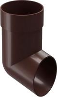 Колено для водостока Docke Premium 85мм (шоколад) -