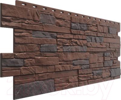 Фасадная панель Docke Stein Темный орех (426x1196)