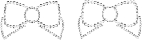 Набор пэстисов Bijoux Indiscrets Mimi Bow 101575 / 0112 (серебристый) -