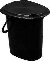 Ведро-туалет ZETA ПЛ-012367 (черный) -