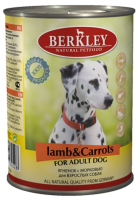Корм для собак Berkley Ягненок с морковью (400г) -