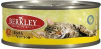 Корм для кошек Berkley Говядина с олениной (100г) -