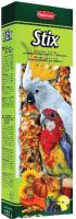 Лакомство для птиц Padovan Палочки фруктовые для крупных попугаев (150г) -
