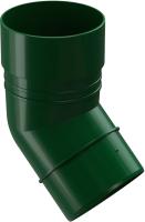 Колено для водостока Docke Dacha 80мм 45 градусов (зеленый) -