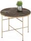 Журнальный столик Halmar Isabelle (темный мрамор/шампань) -