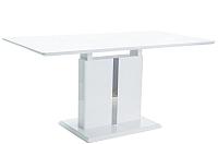 Обеденный стол Signal Dallas 110 раскладной (белый лак) -