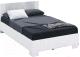 Полуторная кровать Империал Аврора 120 с основанием (белый/ателье светлый) -