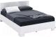 Полуторная кровать Империал Аврора 140 с основанием (белый/ателье светлый) -
