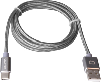 Кабель Qumo USB-Type C (1м, темно-серый) -