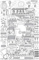 Плакат-раскраска Globen Шоколадная фабрика / PA070 -