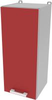 Шкаф навесной для кухни Интерлиния Компо ВШ30-720-1дв (красный) -
