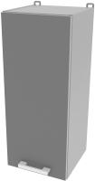 Шкаф навесной для кухни Интерлиния Компо ВШ30-720-1дв (серебро) -