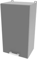 Шкаф навесной для кухни Интерлиния Компо ВШ40-720-1дв (серебро) -