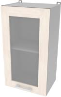 Шкаф навесной для кухни Интерлиния Компо ВШ40ст-720-1дв (вудлайн кремовый) -
