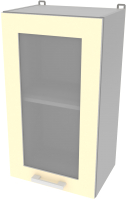 Шкаф навесной для кухни Интерлиния Компо ВШ40ст-720-1дв (ваниль) -