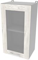 Шкаф навесной для кухни Интерлиния Компо ВШ40ст-720-1дв (дуб белый) -