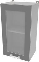 Шкаф навесной для кухни Интерлиния Компо ВШ40ст-720-1дв (серебро) -