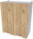 Шкаф навесной для кухни Интерлиния Компо ВШ60-720-2дв (дуб золотой) -
