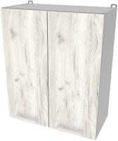 Шкаф навесной для кухни Интерлиния Компо ВШ60-720-2дв (дуб белый) -