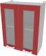 Шкаф навесной для кухни Интерлиния Компо ВШ60ст-720-2дв (красный) -