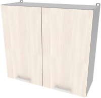 Шкаф навесной для кухни Интерлиния Компо ВШ80-720-2дв (вудлайн кремовый) -