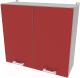 Шкаф навесной для кухни Интерлиния Компо ВШ80-720-2дв (красный) -